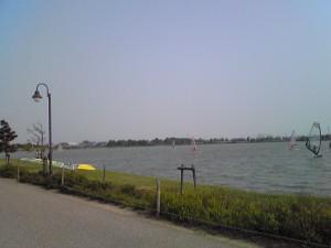 ウインドサーフィン加古大池